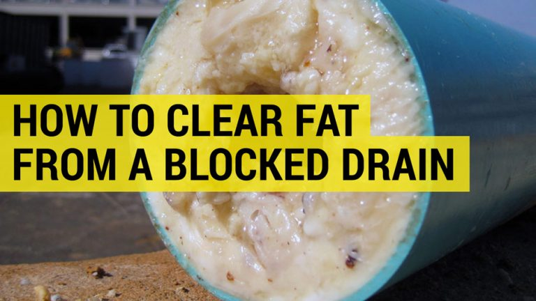 how to clear far and grease from blocked drain