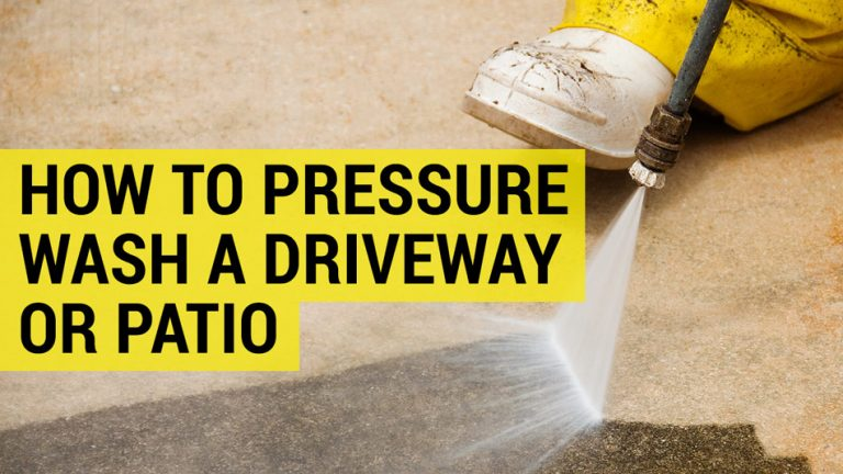 how to pressure wash drive or patio