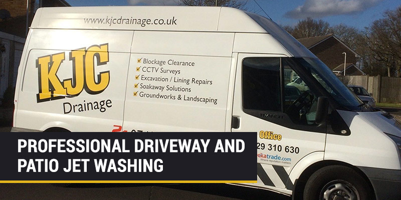 professional jet washing for drives and patios in southampton