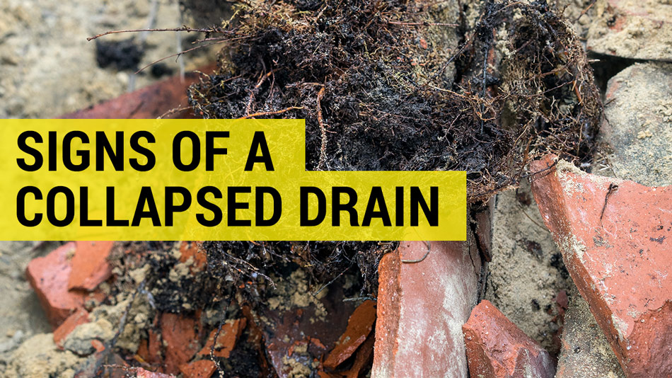 signs of collapsed drains