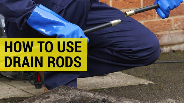 how to use drain rods